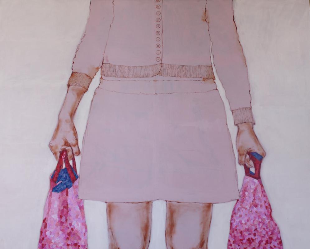 Senza titolo,  Tecnica mista su tela, 70x100cm, 2013