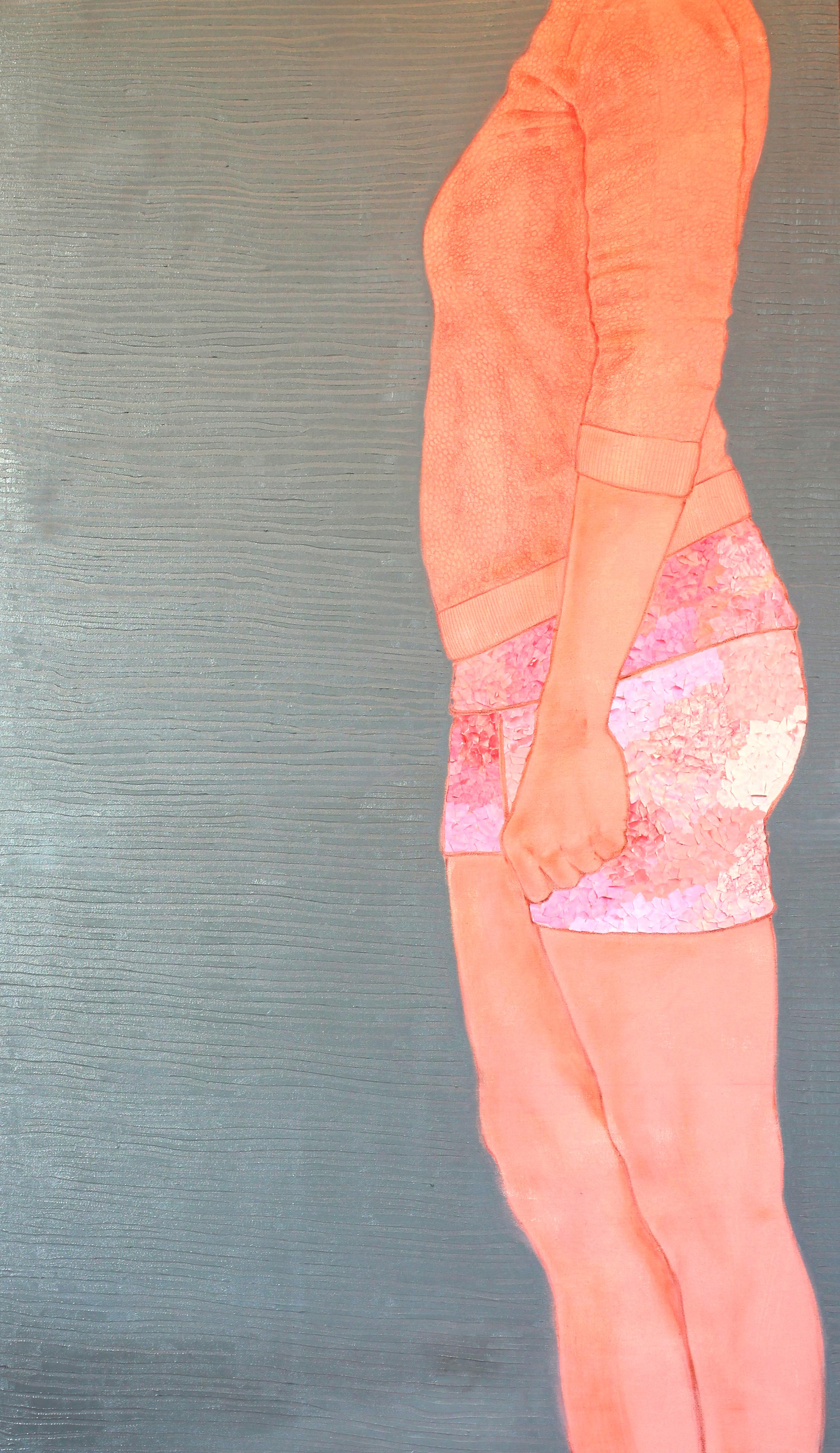 Senza titolo,  tecnica mista su tela, 70x120cm, 2014