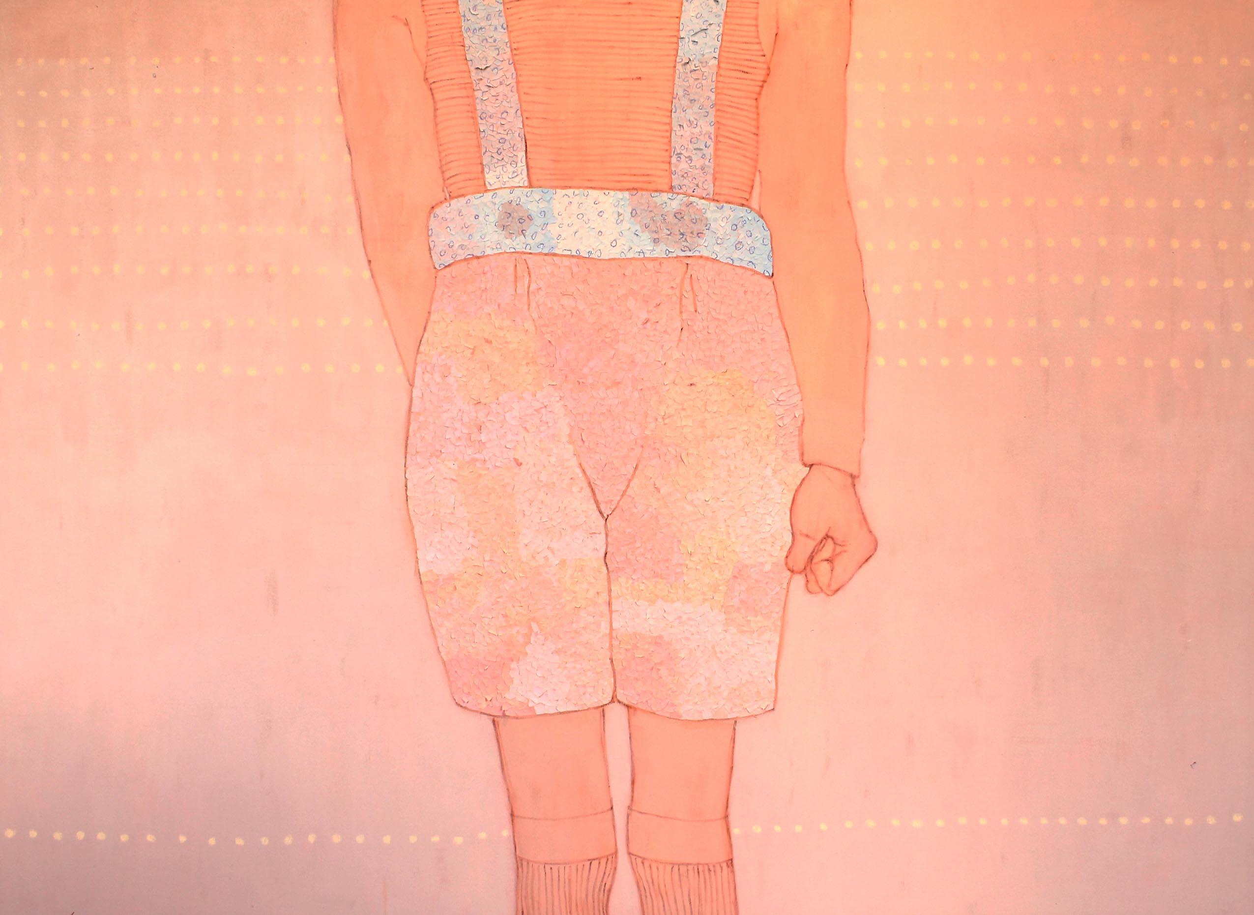 In pugno,  tecnica mista su tela, 100x150cm, 2014