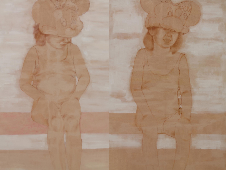 1Gemelline, acrilo e olio su tela, 120x200cm, 2012.