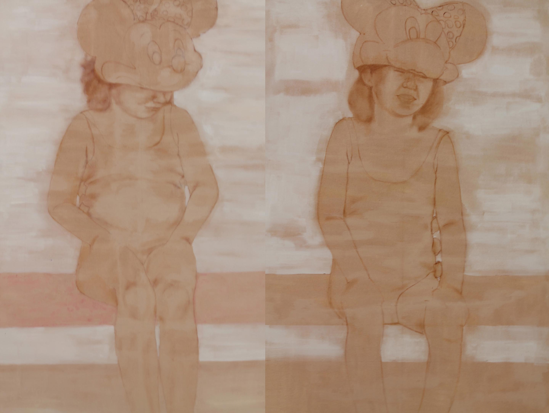 Gemelline,| acrilico e olio su tela, 120x200cm, 2012