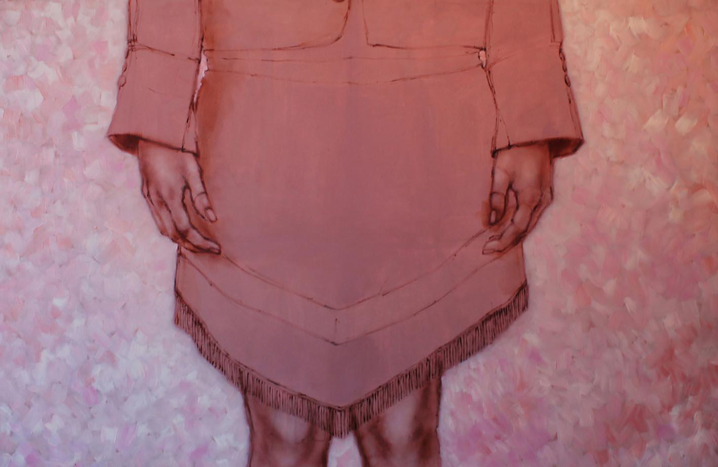 Senza titolo,  Acrilico e Olio su tela, 70x100cm, 2012